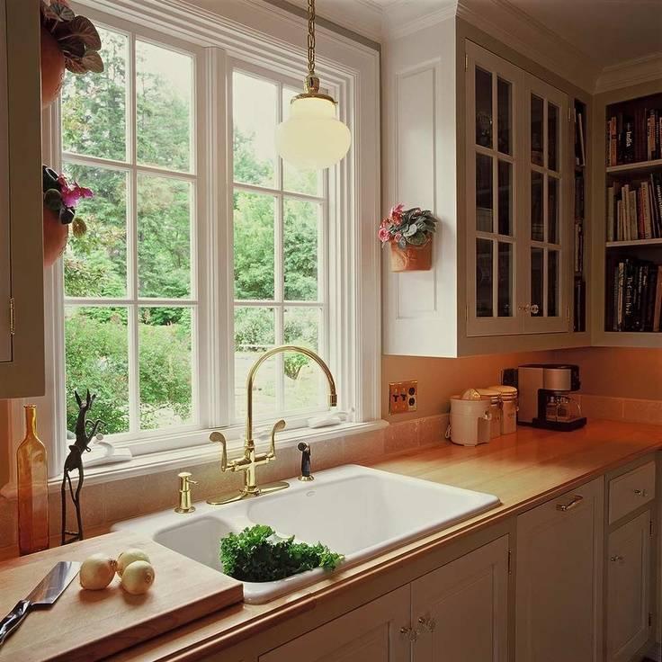 Кухня с большим окном: декор, отделка и идеи дизайна (52 фото) | современные и модные кухни