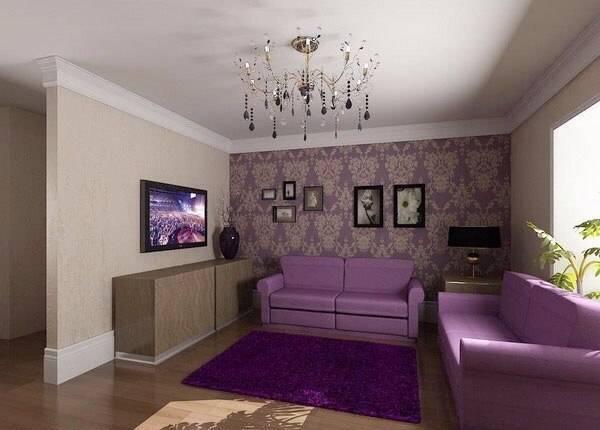 Сиреневые диваны: угловые и прямые в интерьере. дизайн комнаты с диваном сиреневого цвета. подбор чехлов, подушек и штор
