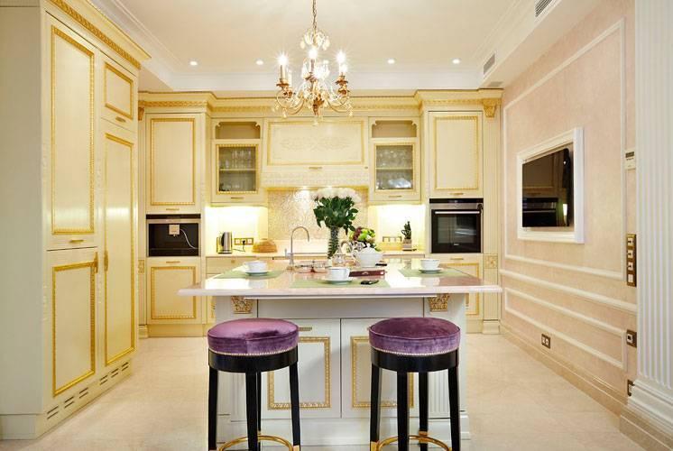 Кухня площадью 25 кв.м: варианты совмещения с гостиной и столовой