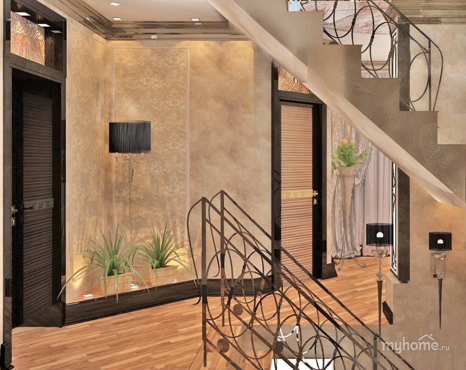 Особенности дизайна холла с лестницей в частном доме