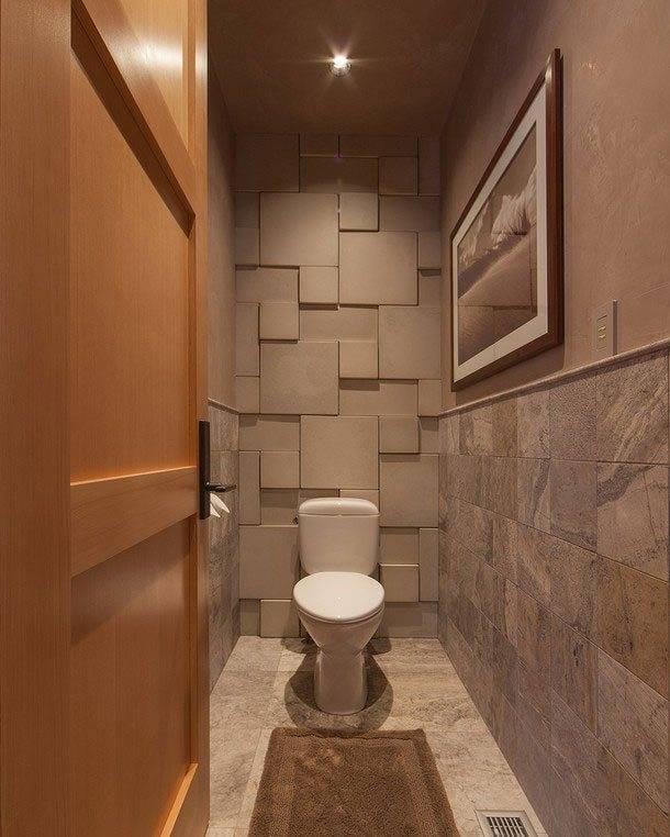 Интерьер туалета, как сделать стильным - фото примеров
