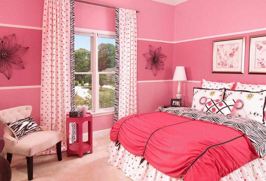 Розовые шторы в спальне (43 фото): серый интерьер со шторами нежно-розового цвета и другие варианты