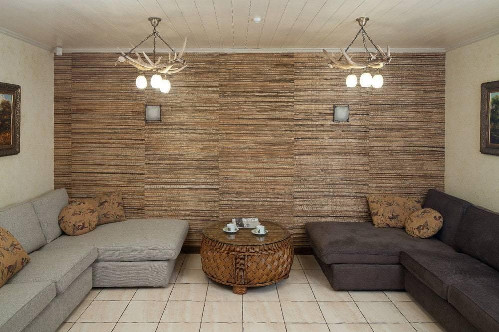 Бамбуковые обои в интерьере | советы специалистов