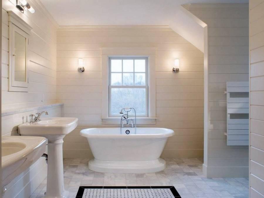 Дизайн ванной комнаты в белых тонах (24 фото)