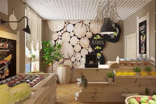 Дизайн магазина продуктов: фото проектов