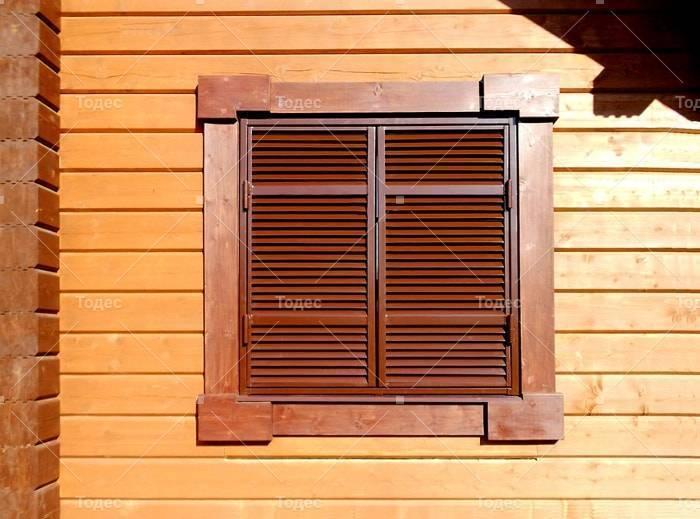 Деревянные ставни на окна для дачи и дома