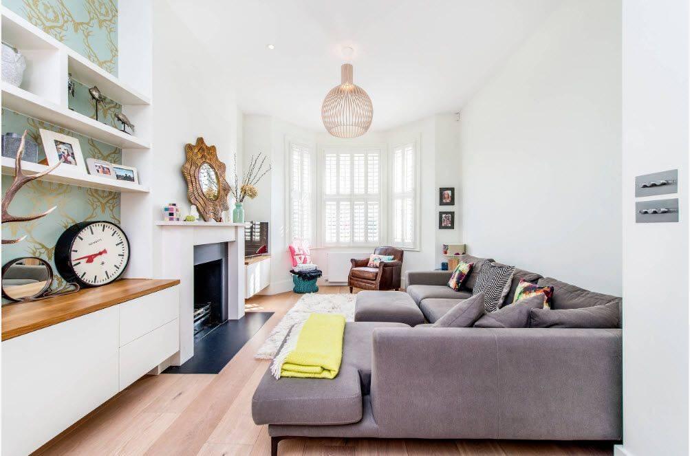 Угловые диваны в гостиную: виды, размеры и варианты в интерьере