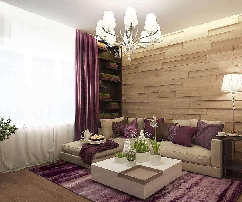 Дизайн комнаты площадью 18 кв. м в однокомнатной квартире