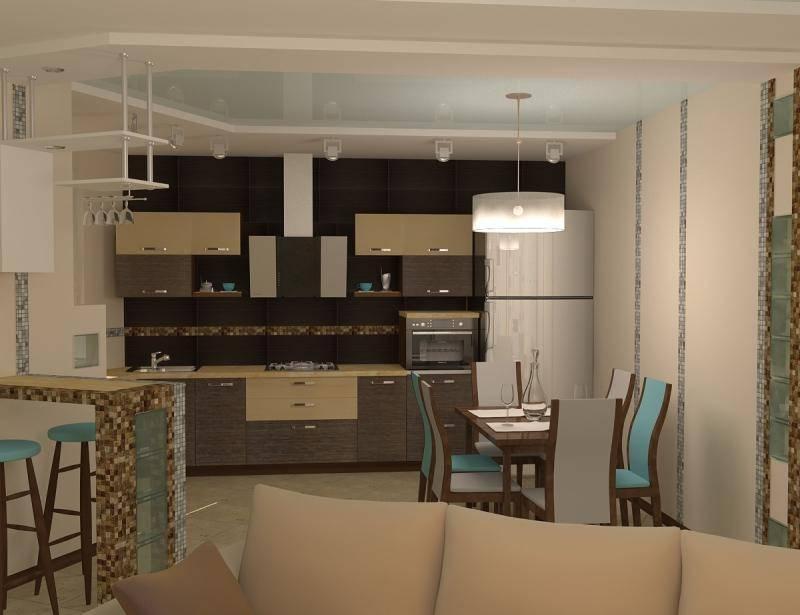 Дизайн кухни-гостиной (175 фото): совмещенная кухня с залом в квартире, нюансы объединенной комнаты, красивые варианты для маленькой площади