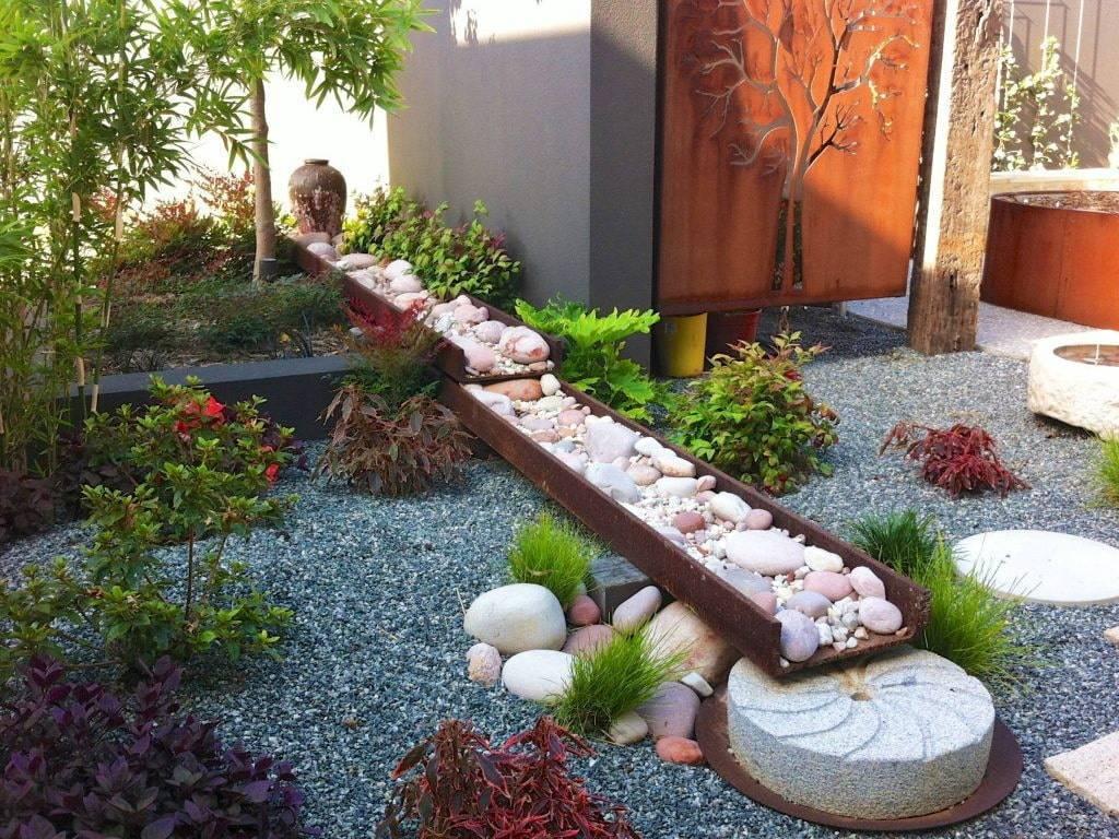 Сухой ручей на участке: фото, материалы, мастер-класс и преимущества в ландшафтном дизайне