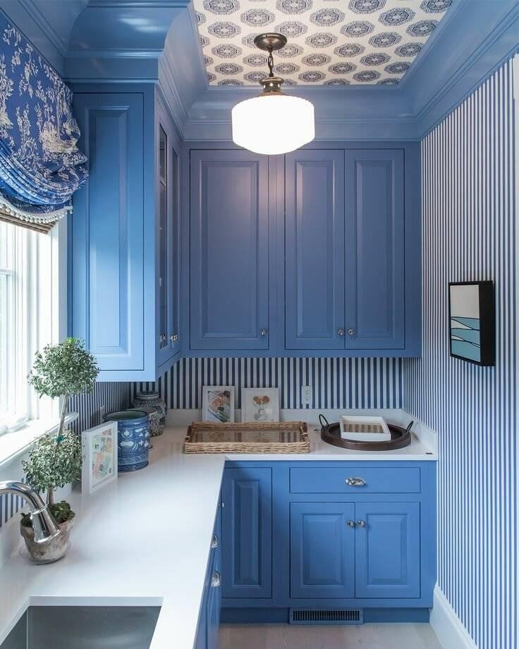 Дизайн голубой кухни: 170+ (фото) интерьеров и их сочетаний