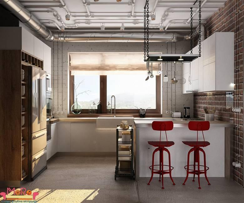 """Кухня-гостиная в стиле """"лофт"""""""