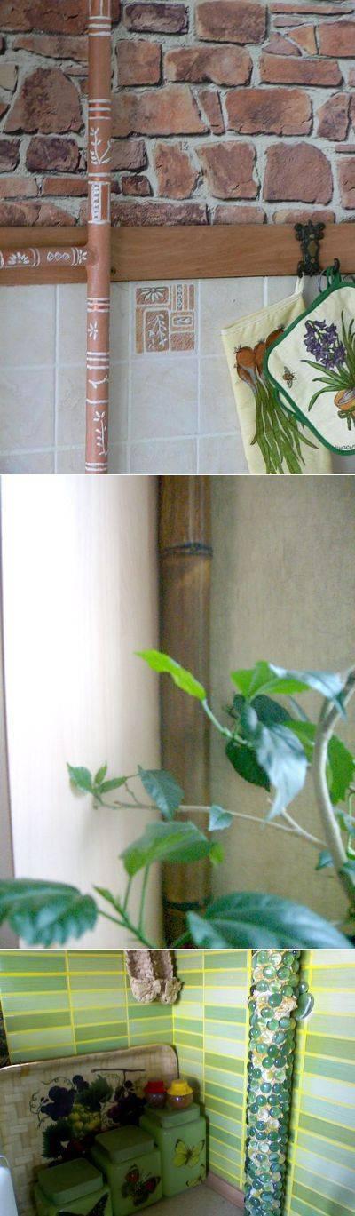 Как спрятать газовую трубу на кухне: фото идеи, видео