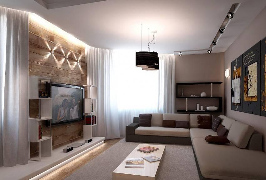 Дизайн кухни-гостиной 18 кв. м (60 фото): проект и планировка интерьера квадратного помещения с диваном размером 18 квадратных метров