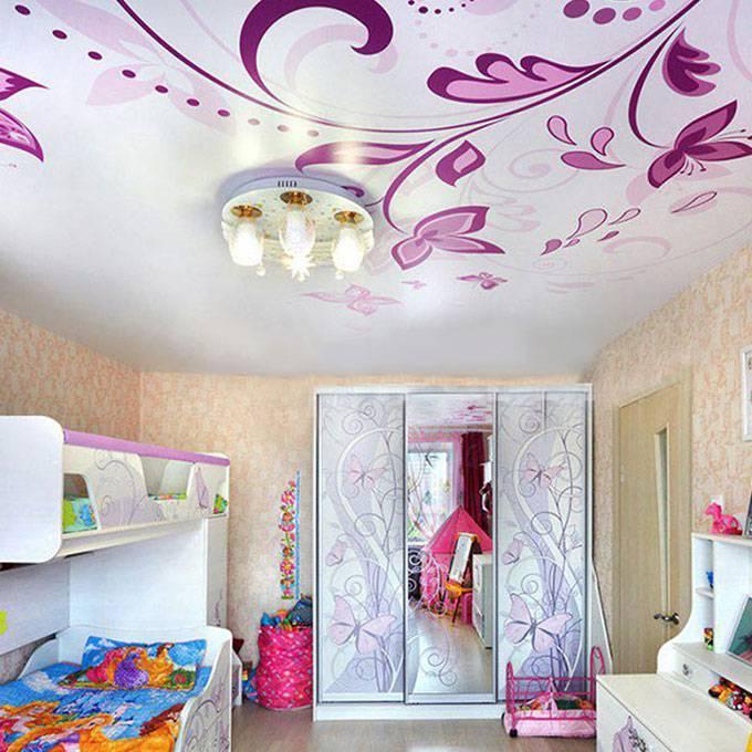 Двухуровневые натяжные потолки - дизайн на кухне, в спальне, гостиной
