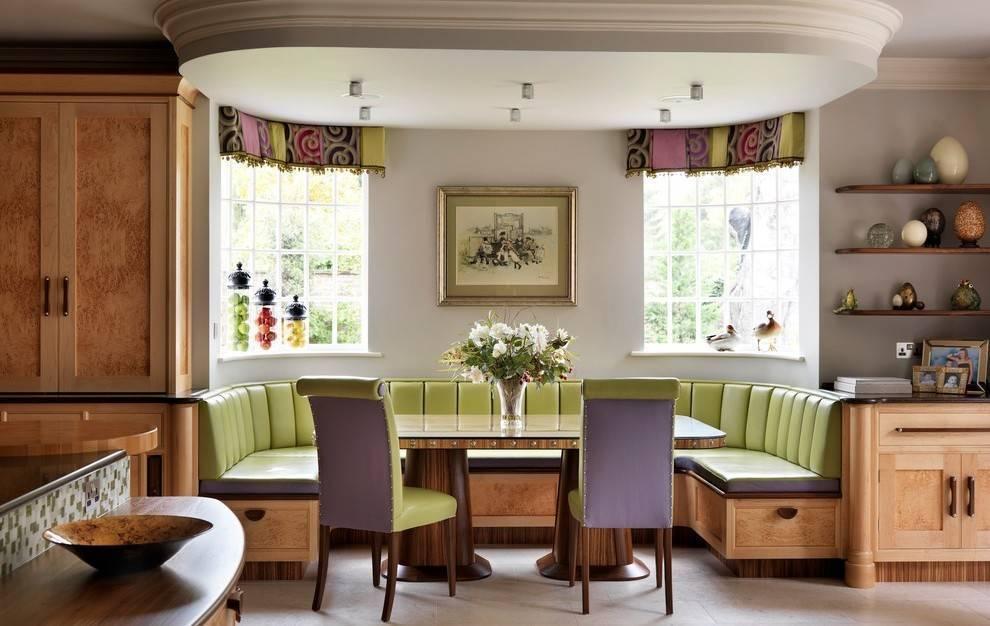 Кухня с эркером: 45 фото красивого оформления пространства