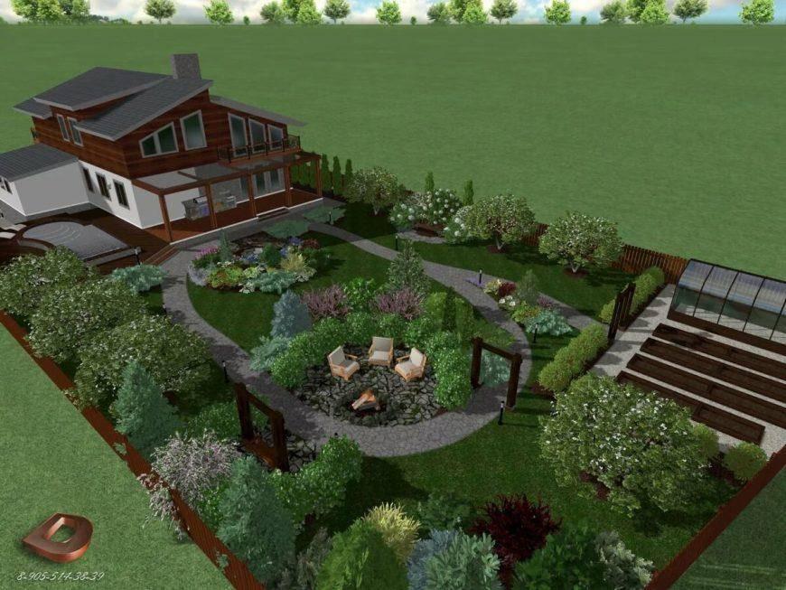Ландшафтный дизайн участка площадью 6 соток (79 фото): планировка дачного дворика, проекты красивых садовых участков