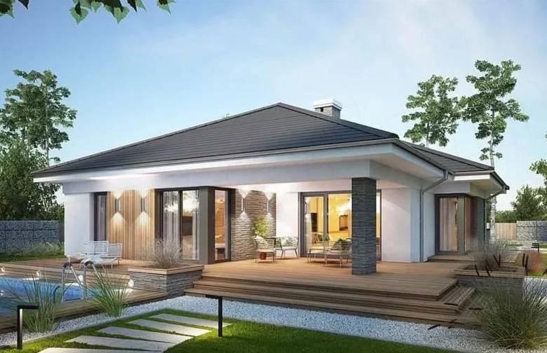 Одноэтажные дома с панорамными окнами (51 фото): проекты домов с большими окнами и террасой, современные деревянные дома с остеклением в пол и другие варианты