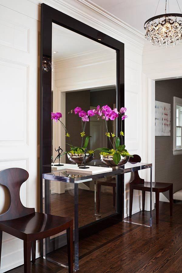 Зеркало в интерьере: виды, варианты расположения, формы, дизайн, рисунки, декор рам