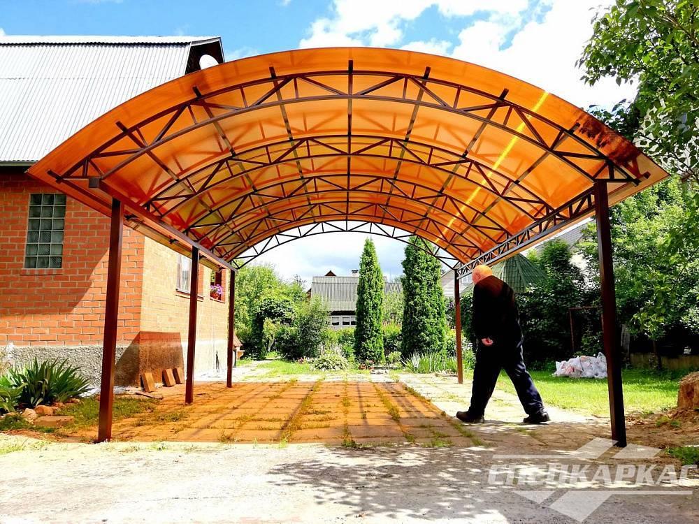 Навесы из поликарбоната во дворе частного дома — секреты мастера самостоятельного изготовления и особенности проектирования! (фото и видео)