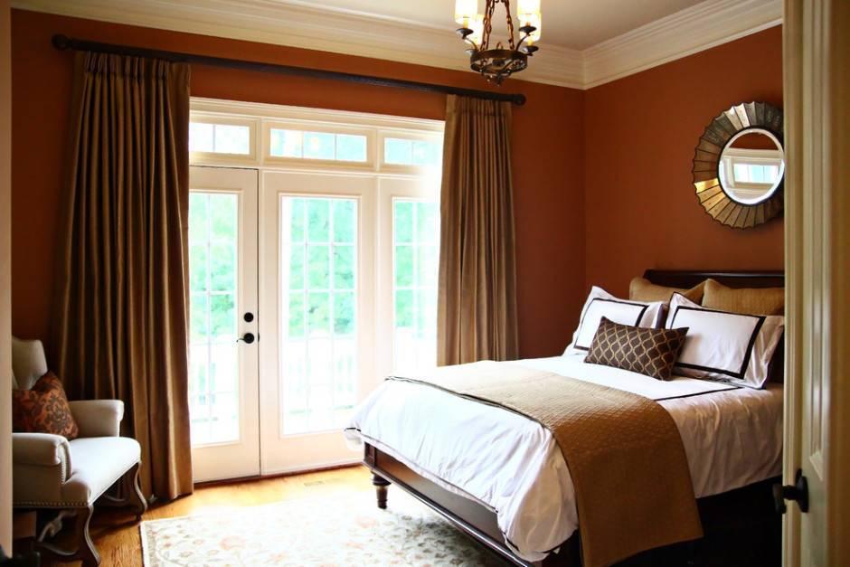 Коричневая спальня - 103 фото примера