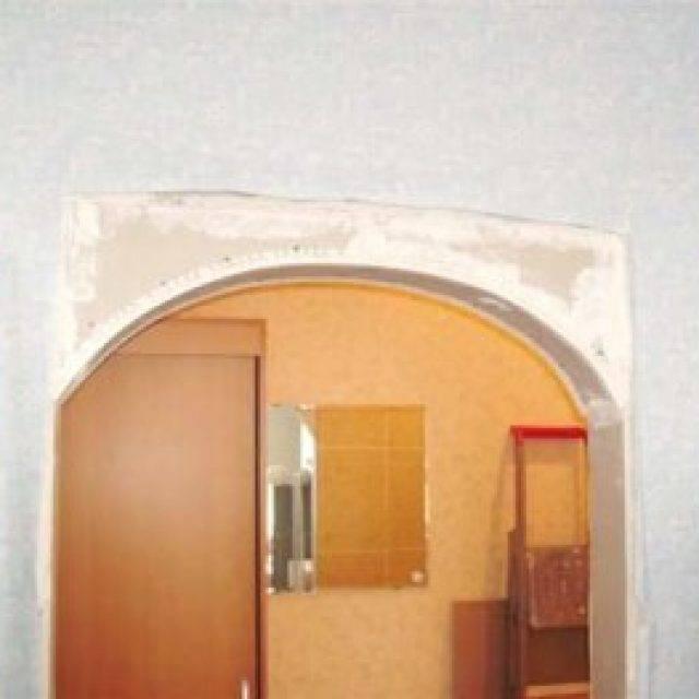 Как сделать арку в дверном проеме: самая простая технология