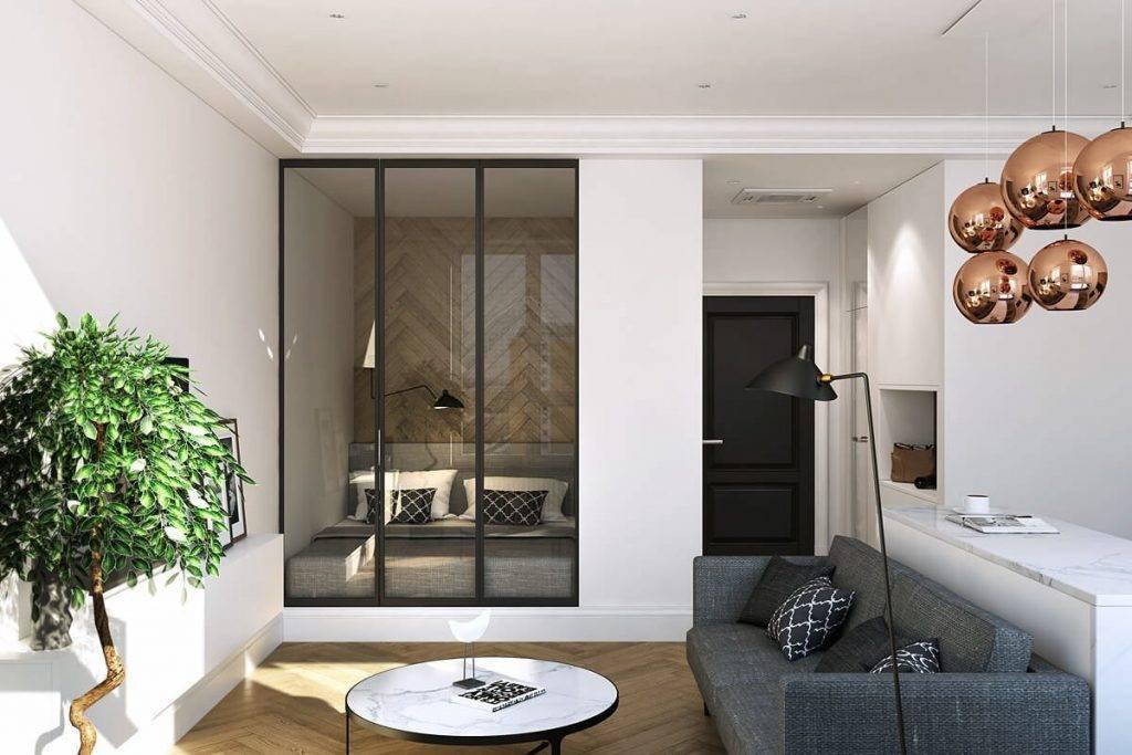 Дизайн однокомнатной квартиры 2021: 6 шагов с реальными фото