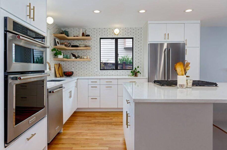 Планировка кухни, как спланировать кухонный гарнитур с правильным расположением: типы и идеи на 2 стороны  - 32 фото