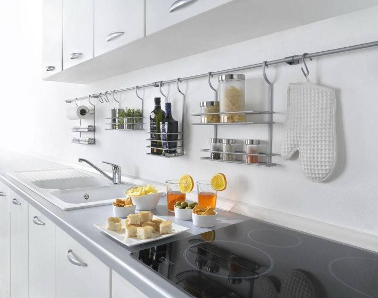 Рейлинг на кухню – что это такое и как его подобрать под интерьер
