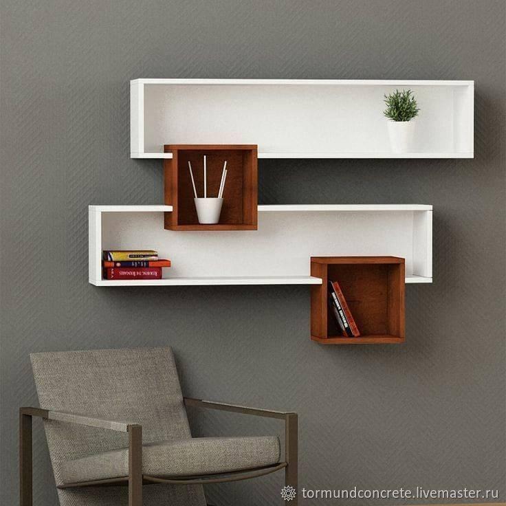 Полки на стену в интерьере: фото