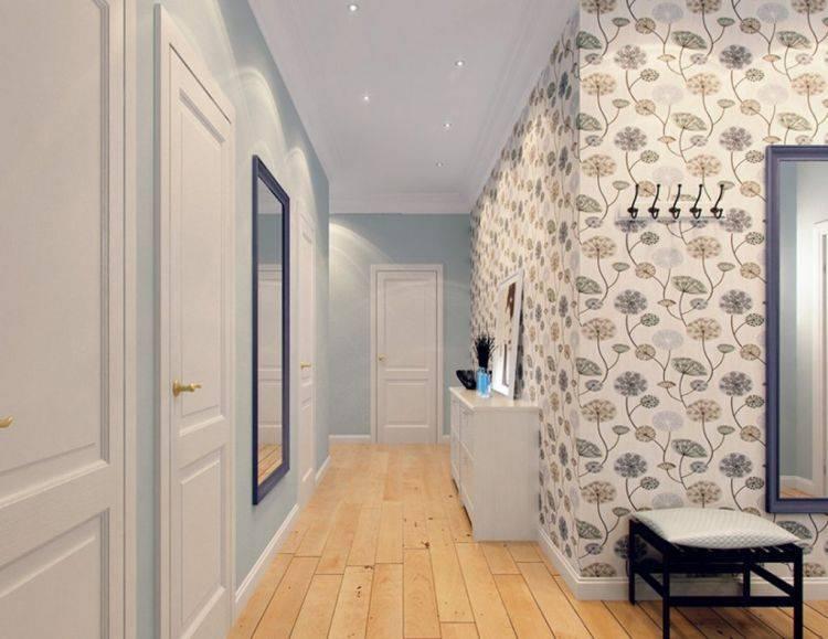 Варианты выбора обоев и оклейки стен в прихожих комнатах