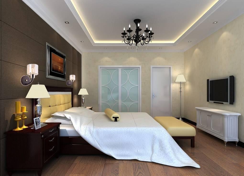 Освещение в спальне (79 фото): сенсорные светильники для тумбочки, дизайн с натяжными потолками, идеи для маленькой комнаты