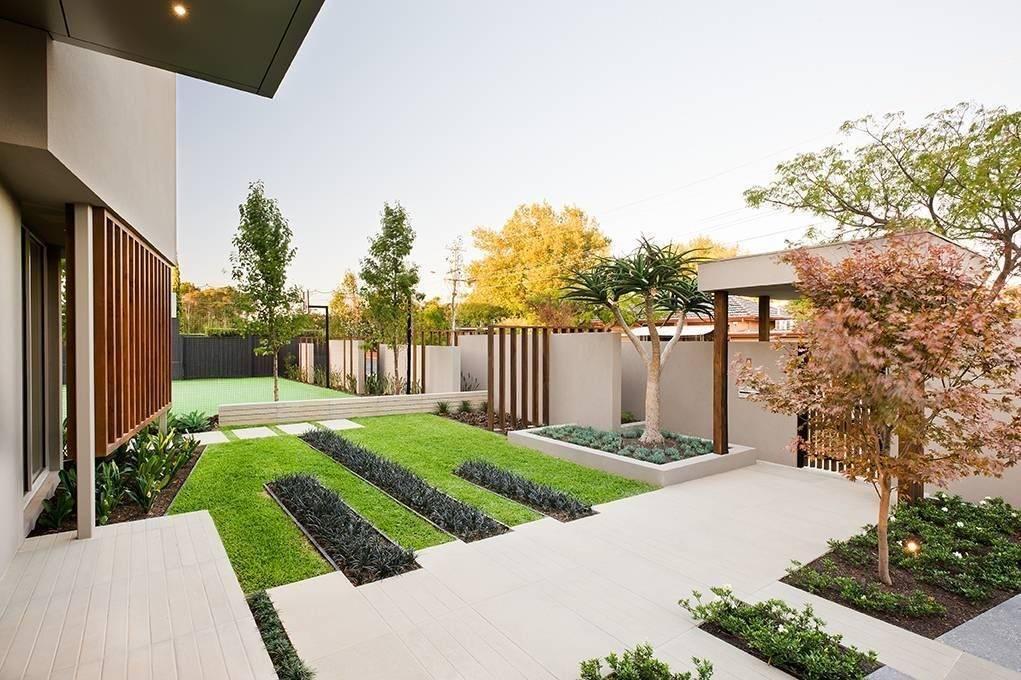 Дизайн участка загородного дома — варианты оформления ландшафта своими руками (105 фото)