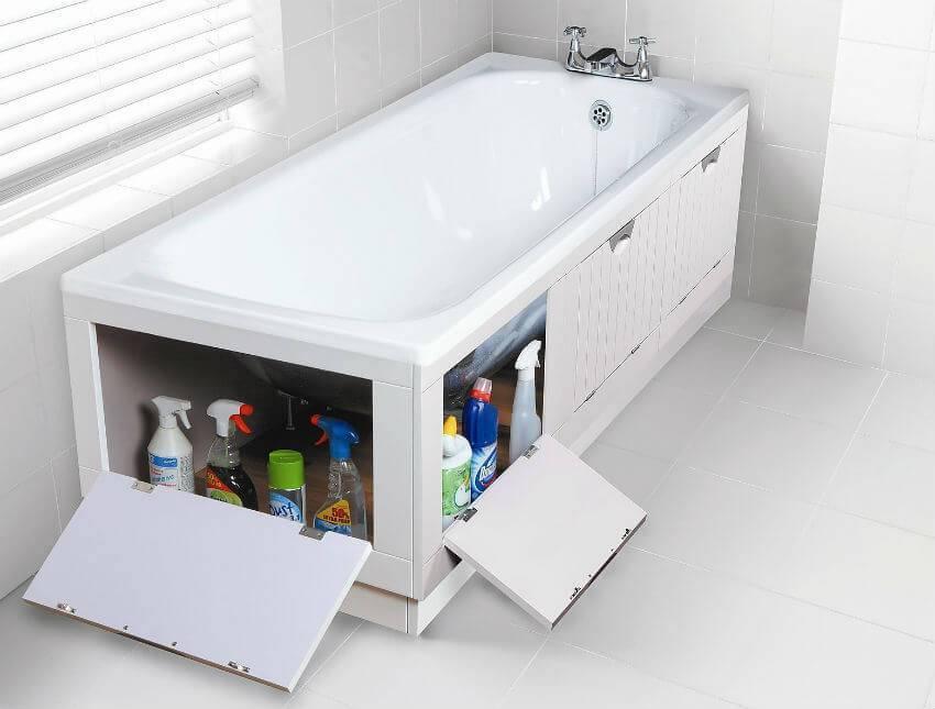 Экраны в ванную: основные разновидности и их особенности, фото конструкции в ванной комнате