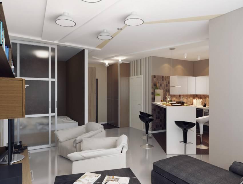 Дизайн однокомнатной квартиры (40 кв. м): фото и идеи