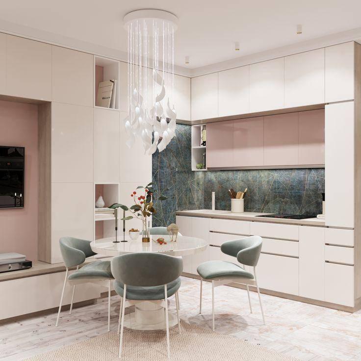 Современный дизайн кухни-гостиной: 42 фото