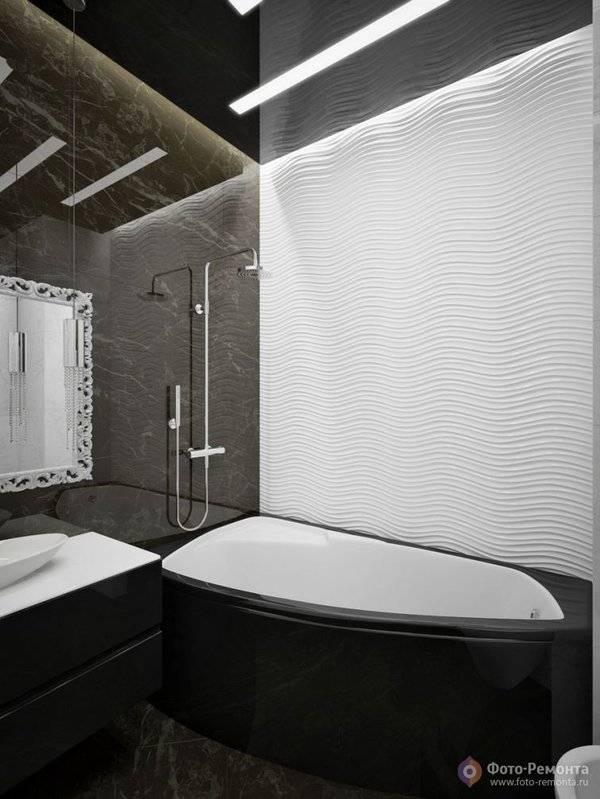Ванная комната в темных тонах: дизайн и фото