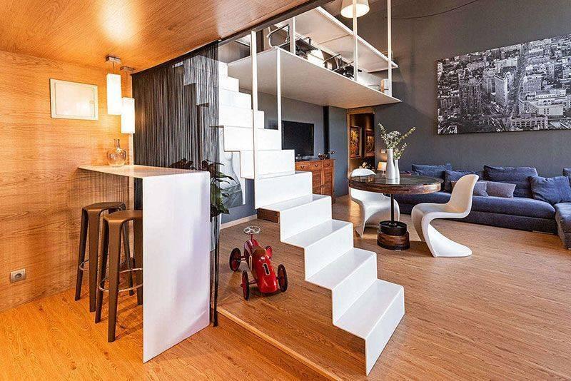 Двухуровневые квартиры — идеи создания уникального интерьера (110 фото)