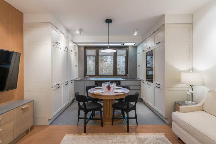 Дизайн кухни гостиной 15 квадратов. квартира студия