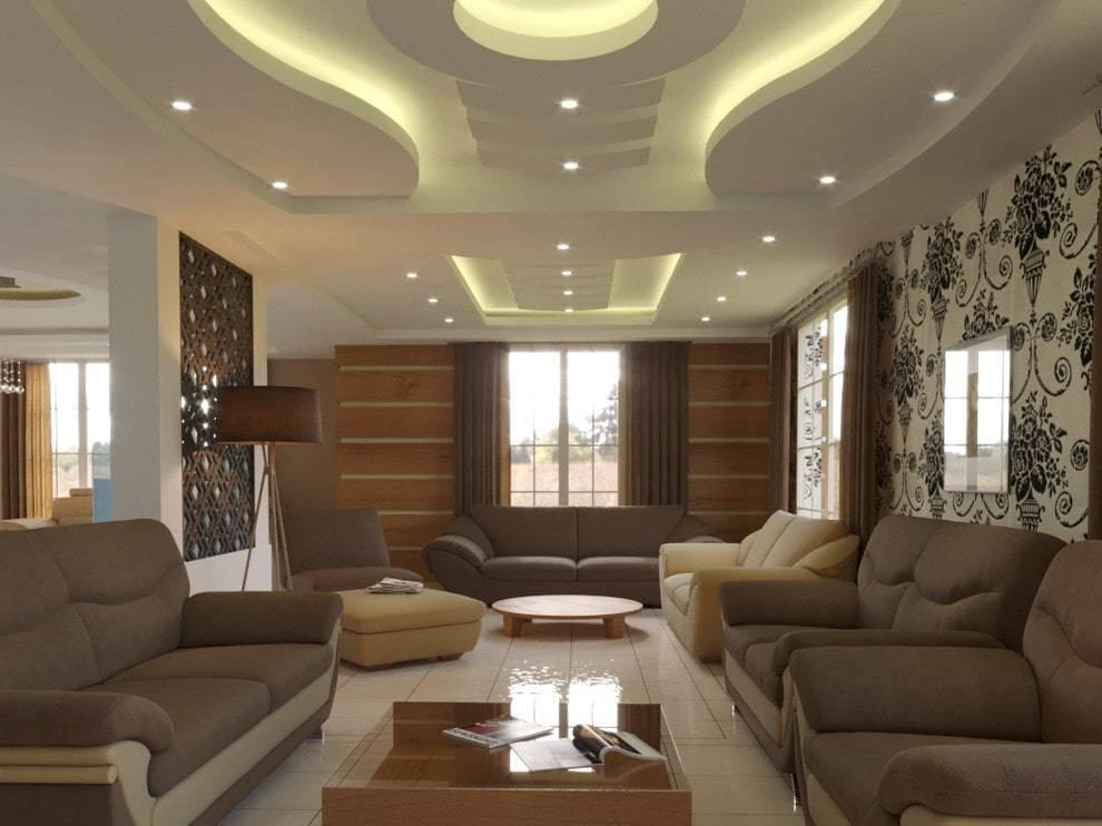Потолок в гостиной – 120 фото примеров современного стильного дизайна