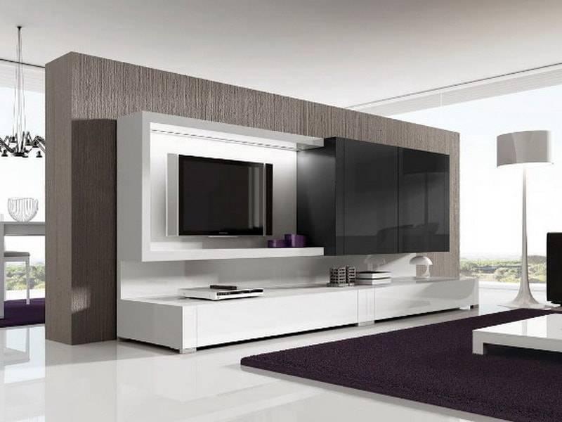 Угловая стенка под телевизор в гостиную: 30 фото моделей, материалы и фото