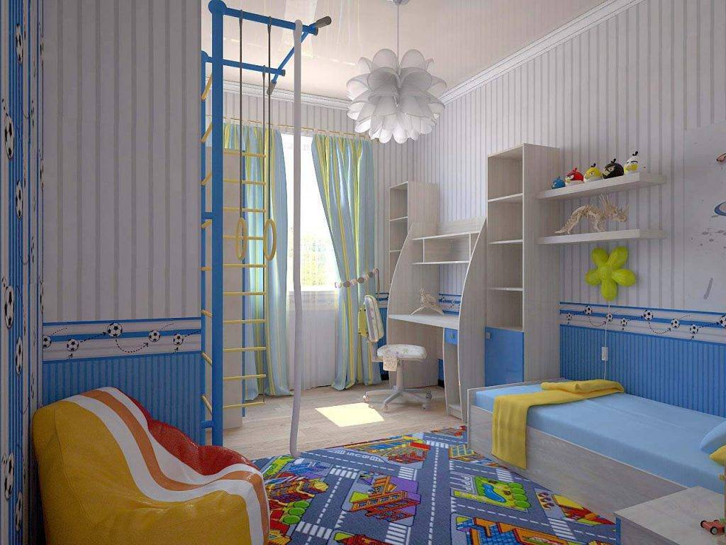 Интерьер детской комнаты для мальчиков: современные фото