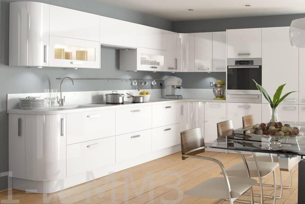 Белая глянцевая кухня (55 фото): современный кухонный гарнитур в интерьере, дизайн мебели из мдф и других материалов, отзывы