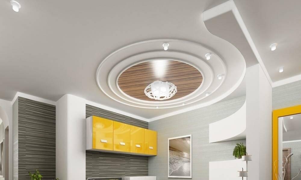 Потолки из гипсокартона на кухне - лучшие варианты и монтажа