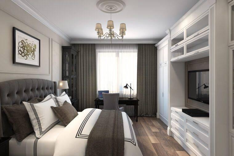 Дизайн узкой спальни с окном в конце: какую мебель поставить в вытянутую прямоугольную спальню  - 56 фото