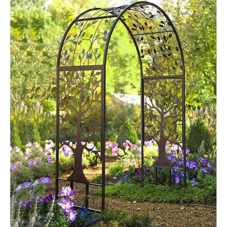 Металлические садовые арки (30 фото): кованые арки для вьющихся растений и цветов, конструкции из металла для плетистых роз, эскизы цветочных арок