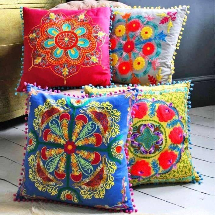 Декоративные подушки своими руками: интересные идеи и красивые варианты оформления подушек (115 фото)