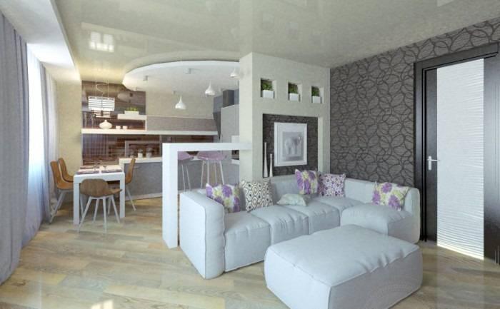 Дизайн кухни-гостиной 20 кв. м (75 фото): примеры проектов с зонированием, варианты интерьера, нюансы планировки совмещенной кухни-гостиной с диваном