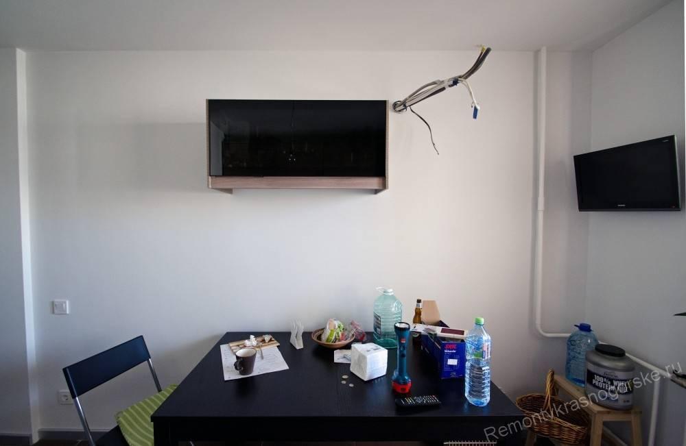 4 способа удачного размещения телевизора на кухне