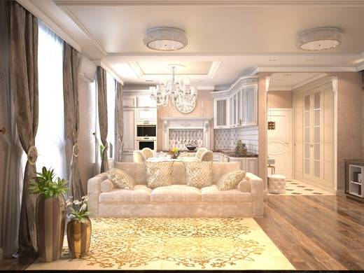 Однокомнатная квартира в классическом стиле: особенности дизайна, советы по оформлению интерьера, фото